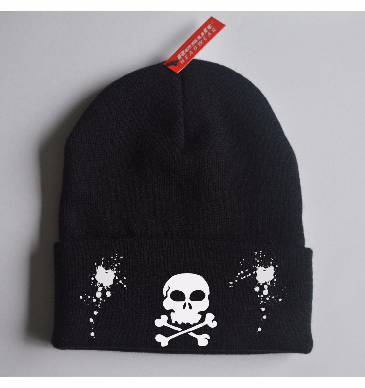 bf6450dabcbdc Printed Beanie SKULL Skate Urban Hat Graffiti Cap Knit Caps New Gift ...