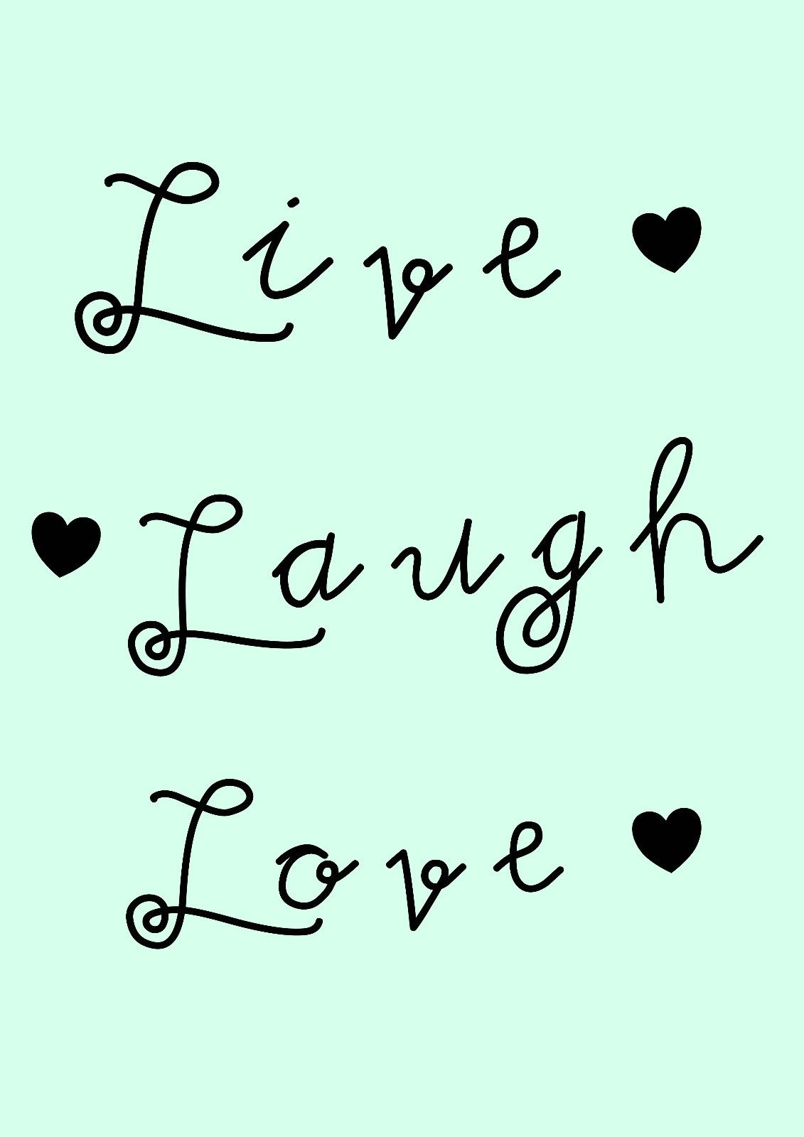 Live Laugh Love Quote Inspirational Quote Poster  A3A4 Portrait 250Gsm Gloss Live