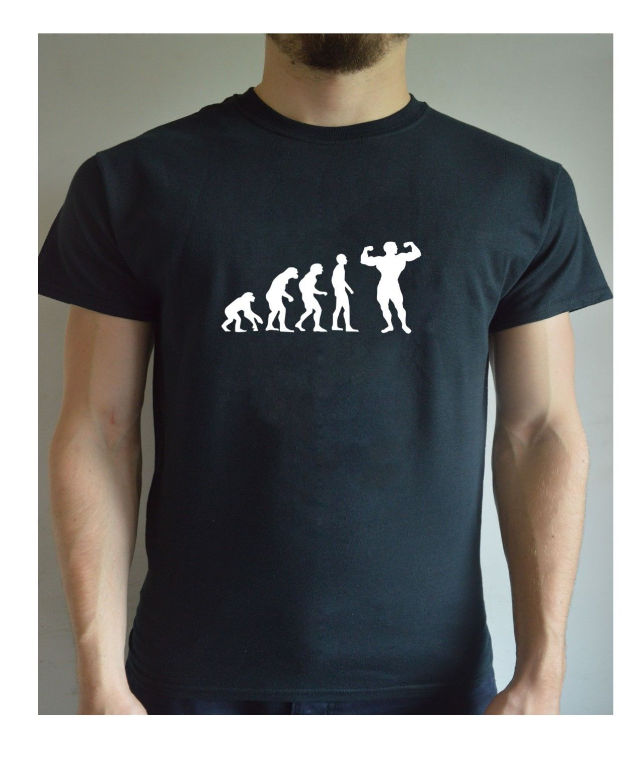 d64a563d Funny Printed T Shirt Evolution – Bodybuilding Personal Trainer Weight  Lifting