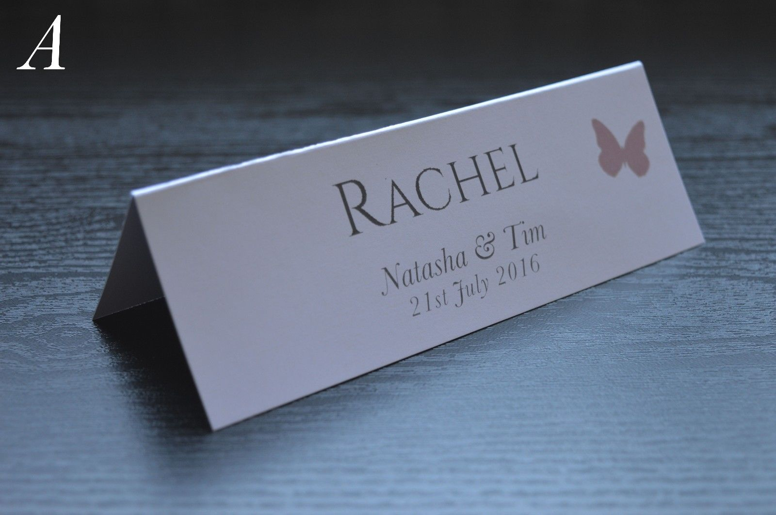 personalised wedding name place table cards printed