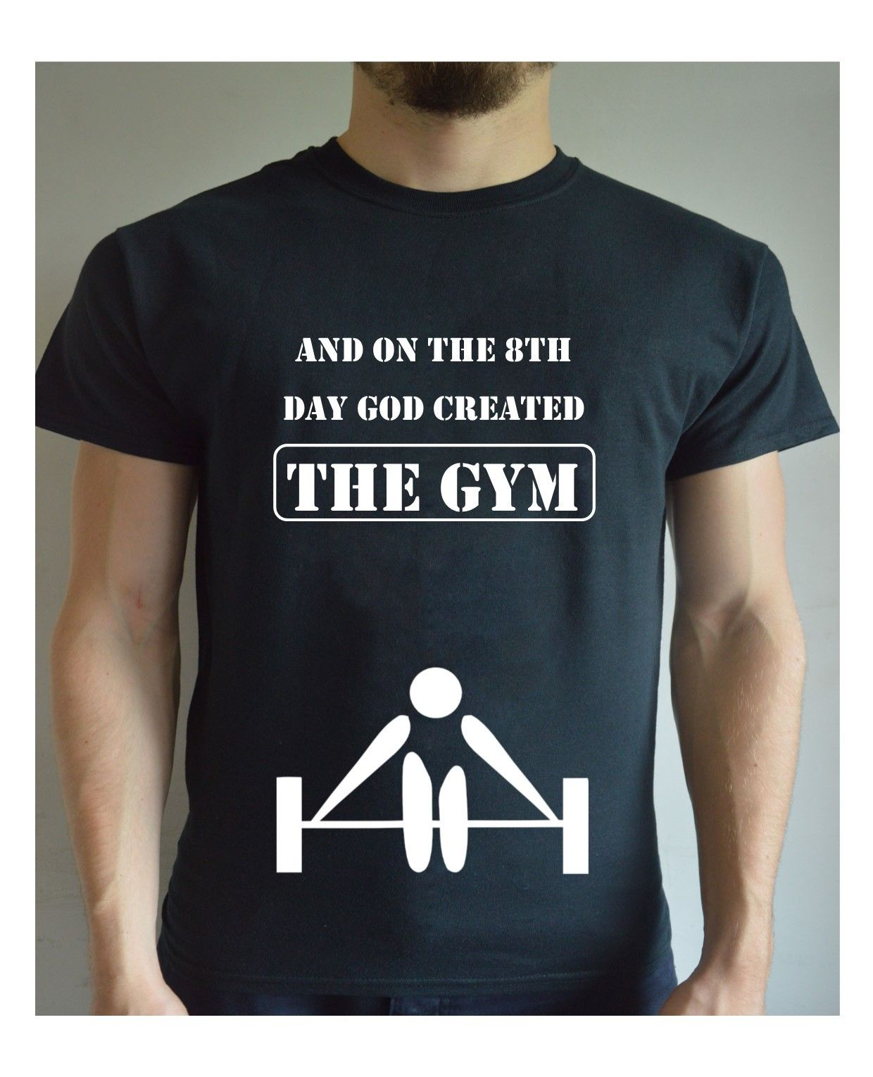 And on the 8th day god created the gym printed t shirt for Gym printed t shirts