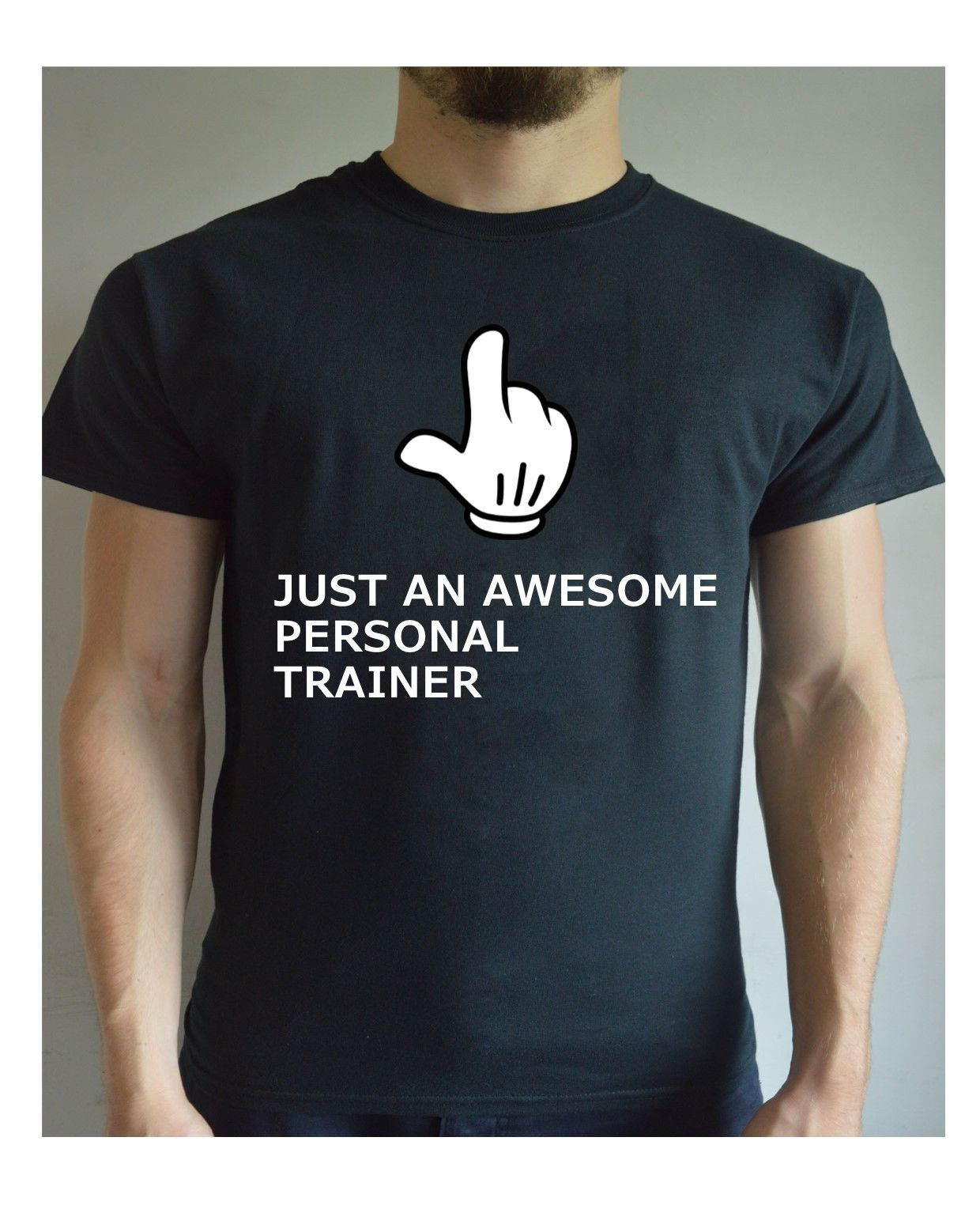 Printed t shirt awesome personal trainer motivation gym for Personal t shirt printing