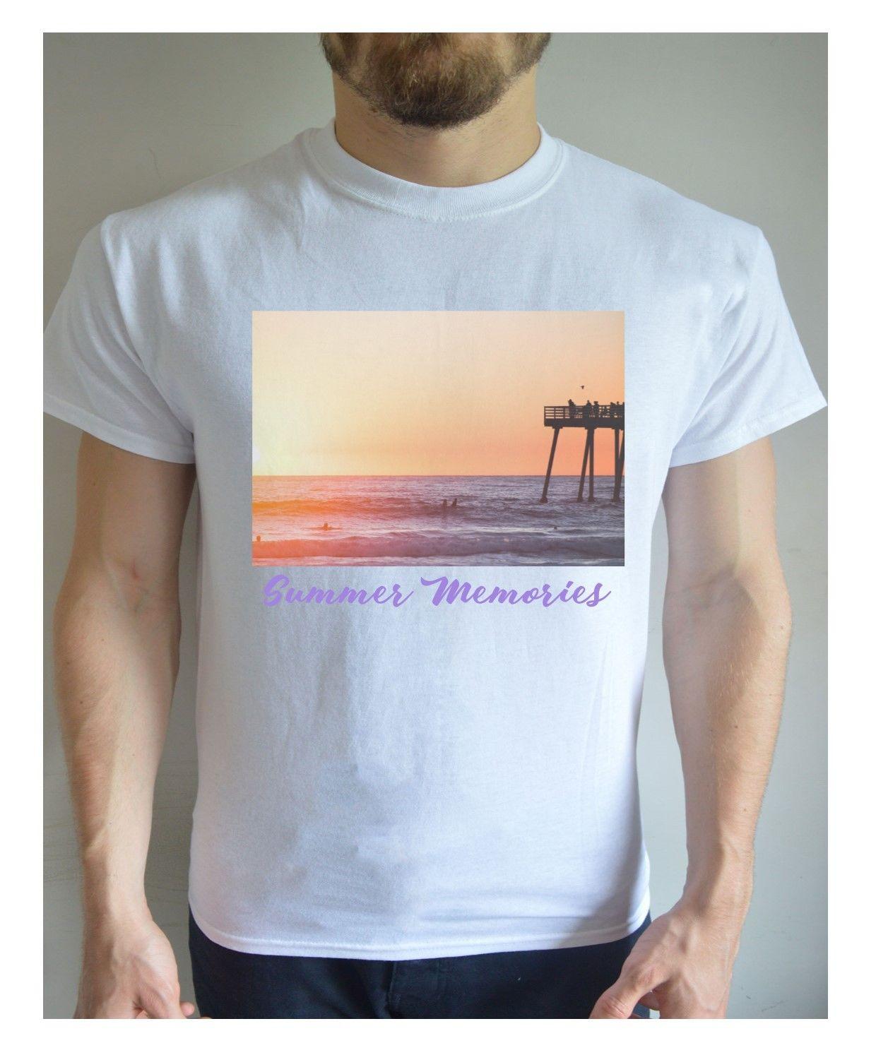 Summer Memories Printed T Shirt Design Beach Themed