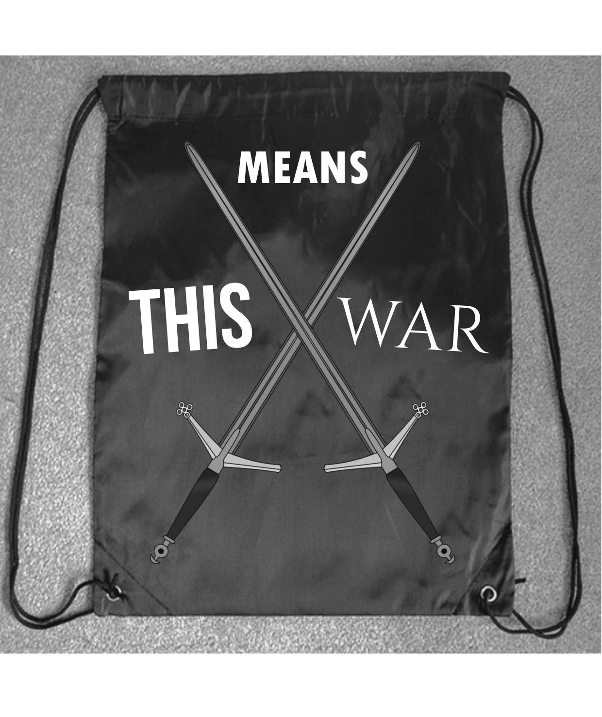 83864006e4 This Means War Motivational Fun Gym Bag Printed Drawstring Fitness Sport  Workout – Pendred Printing
