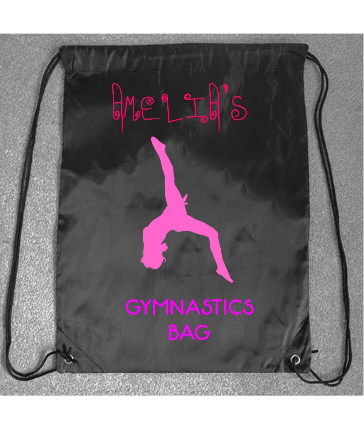 b6bc1f3570bd Girls Kids Gymnastics Cool Pretty PE Gym Bag Printed Drawstring Fitness  Sport – Pendred Printing