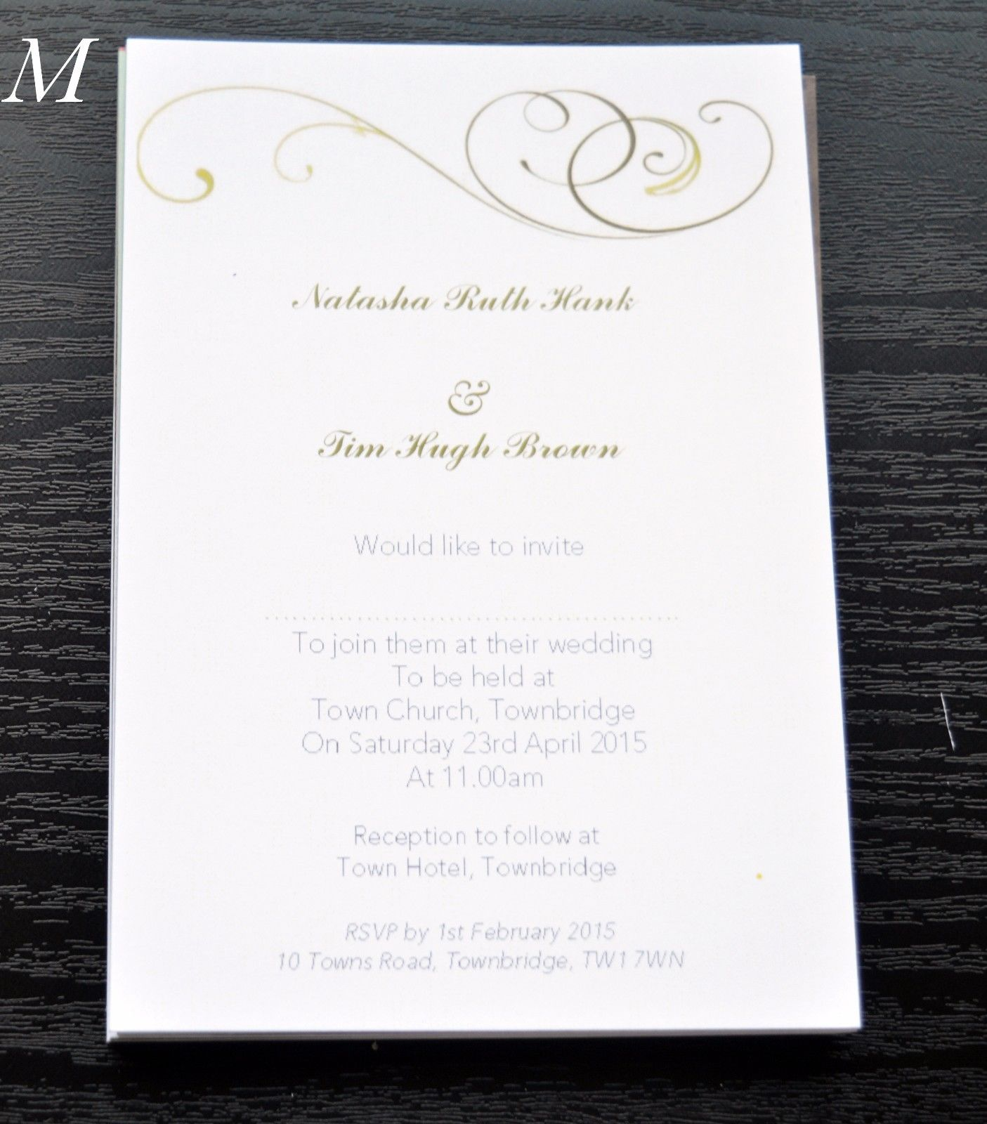 10 Personalised Vintage Style Wedding Invitations 300gsm with ...