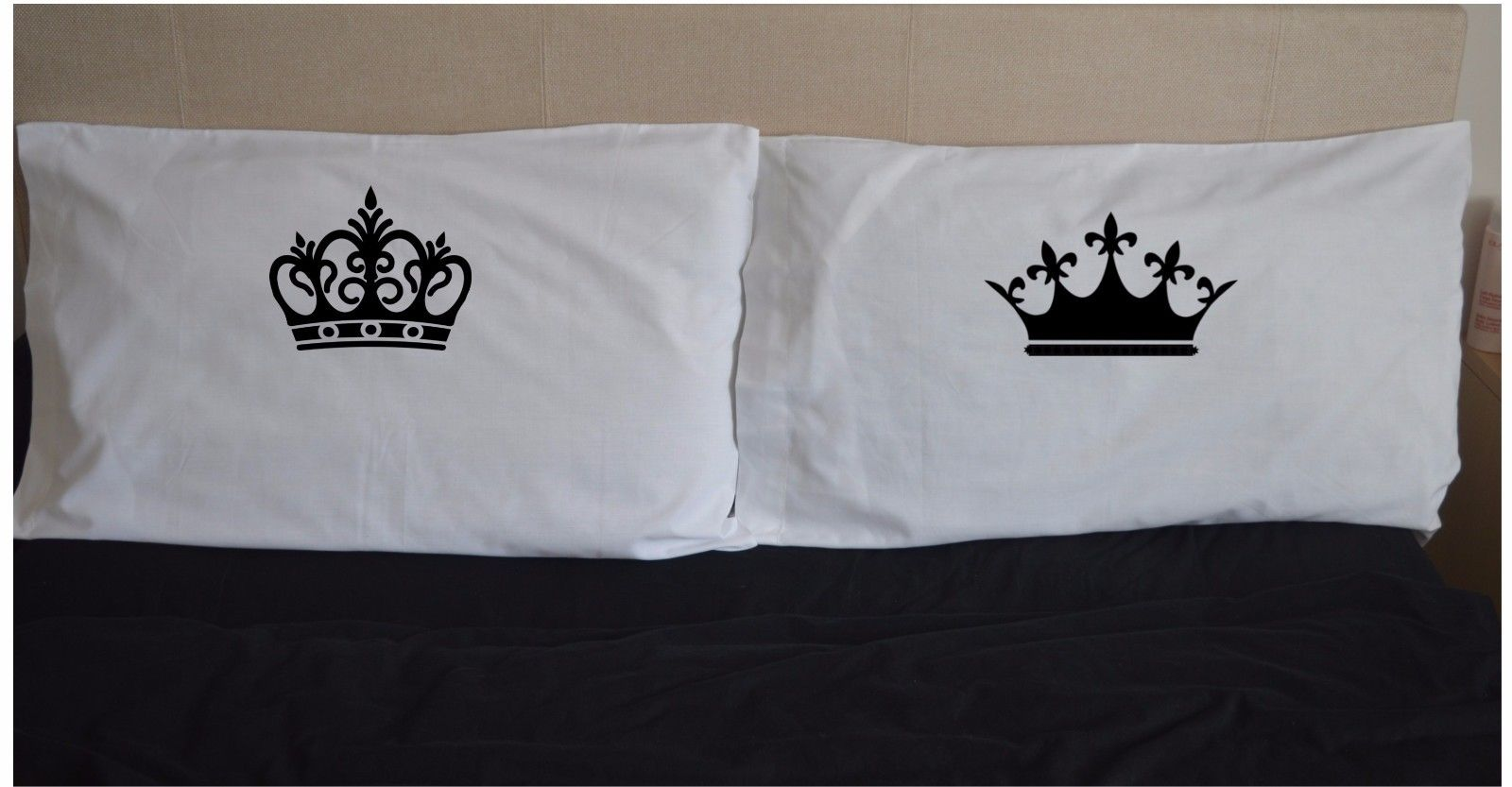 King & Queen Crowns Funny Pillowcases