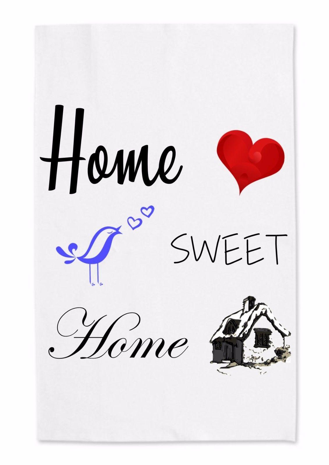 Fantastic Printed Tea Towel Home Swee Heart Love Tea Dishcloth Cotton Kitchen Cooking Home Interior And Landscaping Eliaenasavecom