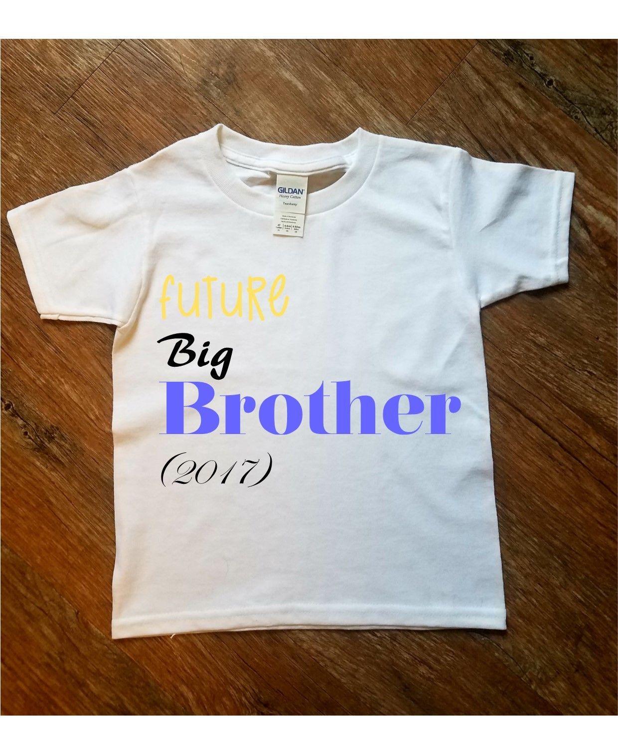 a85344810 Future Big Bro Brother Printed T Shirt Kids Joke Funny Cute Gift ...