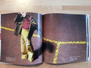 Magazine print, stapled and folded